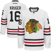 Marcus Kruger Chicago Blackhawks Reebok Men's Authentic 2015 Winter Classic Jersey - White