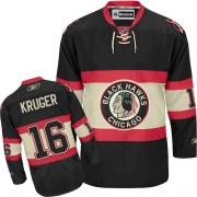 Marcus Kruger Chicago Blackhawks Reebok Men's Premier New Third Jersey - Black