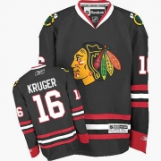 Marcus Kruger Chicago Blackhawks Reebok Men's Premier Third Jersey - Black