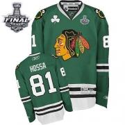 Marian Hossa Chicago Blackhawks Reebok Men's Authentic Stanley Cup Finals Jersey - Green