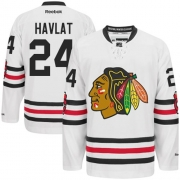 Martin Havlat Chicago Blackhawks Reebok Men's Authentic 2015 Winter Classic Jersey - White