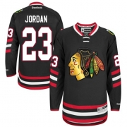 Michael Jordan Chicago Blackhawks Reebok Men's Authentic 2014 Stadium Series Jersey - Black