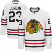 Michael Jordan Chicago Blackhawks Reebok Men's Premier 2015 Winter Classic Jersey - White