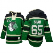 Andrew Shaw Chicago Blackhawks Old Time Hockey Men's Authentic Sawyer Hooded Sweatshirt Jersey - Green