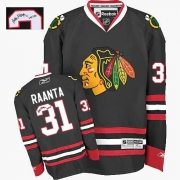 Antti Raanta Chicago Blackhawks Reebok Men's Authentic Autographed Third Jersey - Black