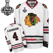 Niklas Hjalmarsson Chicago Blackhawks Reebok Men's Authentic Away Stanley Cup Finals Jersey - White