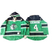 Niklas Hjalmarsson Chicago Blackhawks Old Time Hockey Men's Authentic St. Patrick's Day McNary Lace Hoodie Jersey - Green
