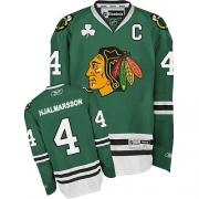 Niklas Hjalmarsson Chicago Blackhawks Reebok Men's Authentic Jersey - Green