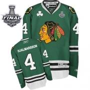 Niklas Hjalmarsson Chicago Blackhawks Reebok Men's Authentic Stanley Cup Finals Jersey - Green
