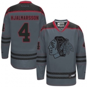 Niklas Hjalmarsson Chicago Blackhawks Reebok Men's Premier Cross Check Fashion Jersey - Storm