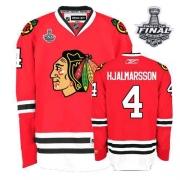 Niklas Hjalmarsson Chicago Blackhawks Reebok Men's Authentic Home Stanley Cup Finals Jersey - Red