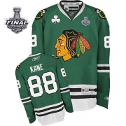 Patrick Kane Chicago Blackhawks Reebok Men's Authentic Stanley Cup Finals Jersey - Green