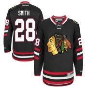 Ben Smith Chicago Blackhawks Reebok Men's Authentic 2014 Stadium Series Jersey - Black
