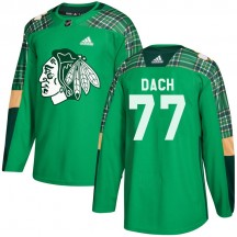 Kirby Dach Chicago Blackhawks Adidas Youth Authentic St. Patrick's Day Practice Jersey - Green