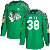 Brandon Hagel Chicago Blackhawks Adidas Youth Authentic St. Patrick's Day Practice Jersey - Green