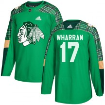 Kenny Wharram Chicago Blackhawks Adidas Youth Authentic St. Patrick's Day Practice Jersey - Green