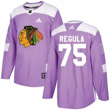 Alec Regula Chicago Blackhawks Adidas Youth Authentic Fights Cancer Practice Jersey - Purple