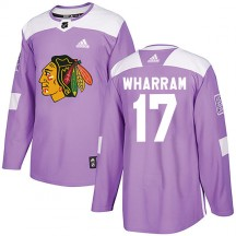 Kenny Wharram Chicago Blackhawks Adidas Youth Authentic Fights Cancer Practice Jersey - Purple