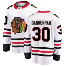 Murray Bannerman Chicago Blackhawks Fanatics Branded Men's Breakaway Away Jersey - White