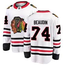 Nicolas Beaudin Chicago Blackhawks Fanatics Branded Men's ized Breakaway Away Jersey - White