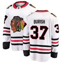 Adam Burish Chicago Blackhawks Fanatics Branded Men's Breakaway Away Jersey - White