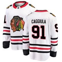 Drake Caggiula Chicago Blackhawks Fanatics Branded Men's Breakaway Away Jersey - White