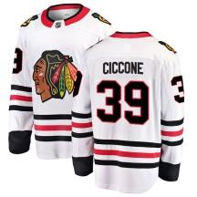 Enrico Ciccone Chicago Blackhawks Fanatics Branded Men's Breakaway Away Jersey - White
