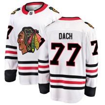 Kirby Dach Chicago Blackhawks Fanatics Branded Men's Breakaway Away Jersey - White