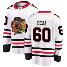 Collin Delia Chicago Blackhawks Fanatics Branded Men's Breakaway Away Jersey - White