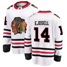 Victor Ejdsell Chicago Blackhawks Fanatics Branded Men's Breakaway Away Jersey - White