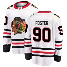 Scott Foster Chicago Blackhawks Fanatics Branded Men's Breakaway Away Jersey - White