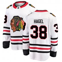 Brandon Hagel Chicago Blackhawks Fanatics Branded Men's Breakaway Away Jersey - White
