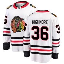 Matthew Highmore Chicago Blackhawks Fanatics Branded Men's Breakaway Away Jersey - White