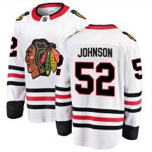 Reese Johnson Chicago Blackhawks Fanatics Branded Men's Breakaway Away Jersey - White