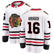 Marcus Kruger Chicago Blackhawks Fanatics Branded Men's Breakaway Away Jersey - White