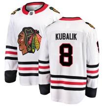 Dominik Kubalik Chicago Blackhawks Fanatics Branded Men's Breakaway Away Jersey - White