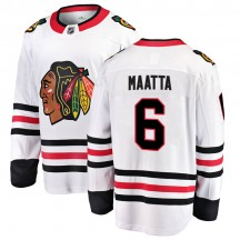Olli Maatta Chicago Blackhawks Fanatics Branded Men's Breakaway Away Jersey - White