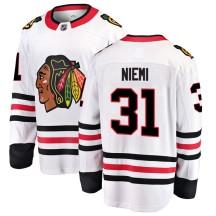 Antti Niemi Chicago Blackhawks Fanatics Branded Men's Breakaway Away Jersey - White