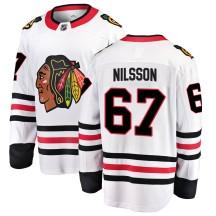 Jacob Nilsson Chicago Blackhawks Fanatics Branded Men's Breakaway Away Jersey - White