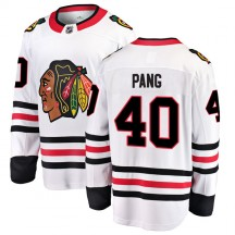 Darren Pang Chicago Blackhawks Fanatics Branded Men's Breakaway Away Jersey - White
