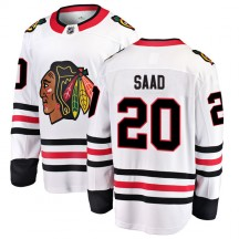 Brandon Saad Chicago Blackhawks Fanatics Branded Men's Breakaway Away Jersey - White