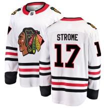 Dylan Strome Chicago Blackhawks Fanatics Branded Men's Breakaway Away Jersey - White