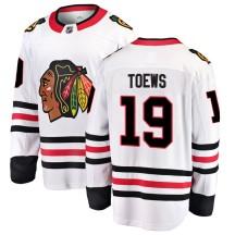 Jonathan Toews Chicago Blackhawks Fanatics Branded Men's Breakaway Away Jersey - White