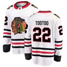 Jordin Tootoo Chicago Blackhawks Fanatics Branded Men's Breakaway Away Jersey - White