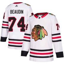 Nicolas Beaudin Chicago Blackhawks Adidas Youth Authentic ized Away Jersey - White