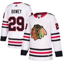 Madison Bowey Chicago Blackhawks Adidas Youth Authentic Away Jersey - White