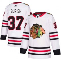 Adam Burish Chicago Blackhawks Adidas Youth Authentic Away Jersey - White