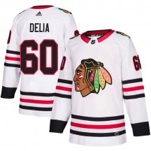 Collin Delia Chicago Blackhawks Adidas Youth Authentic Away Jersey - White