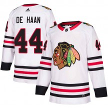 Calvin de Haan Chicago Blackhawks Adidas Youth Authentic Away Jersey - White