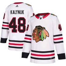 Wyatt Kalynuk Chicago Blackhawks Adidas Youth Authentic Away Jersey - White